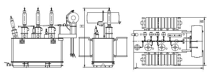 型号及其含义:  产品特点: 铁芯 全部采用优质晶粒取向冷轧硅钢片,全斜无孔绑扎结构,铁芯为多级阶梯形,三接缝或五接缝,空损低、噪音小;卷铁芯用专用设备直接卷绕而成,无接缝、无角重,减少了磁阻,空损低;非晶合金变压器铁芯是一种更优质的铁芯材料,与传统硅钢片相比,平均降低空损72% ,空载电流50% 。 线圈 采用优质QQ缩醛漆包圆铜线,无氧铜杆拉制的扁铜钱绕制而成,其形式有圆筒式、连续式、新型螺旋式、分裂式等,具有足够的电气强度、机械强度和散热能力。为了增加变压器的抗短路能力,可采用更优质的自粘换位导线。